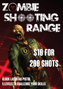 NEW Zombie Shooting Range!